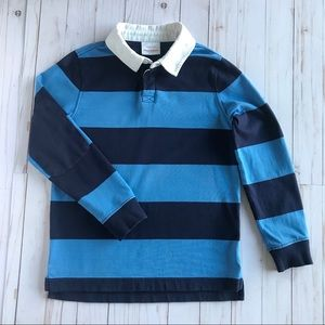 Hanna Andersson Rugby Polo Navy and Blue Size 8